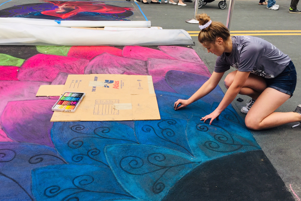 Chalkfest at Arbor Lakes 2019 (photo by Maple Grove Voice)