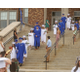 Photo by Chris Barber The senior class members processed two-by-two arm-in-arm down the steps