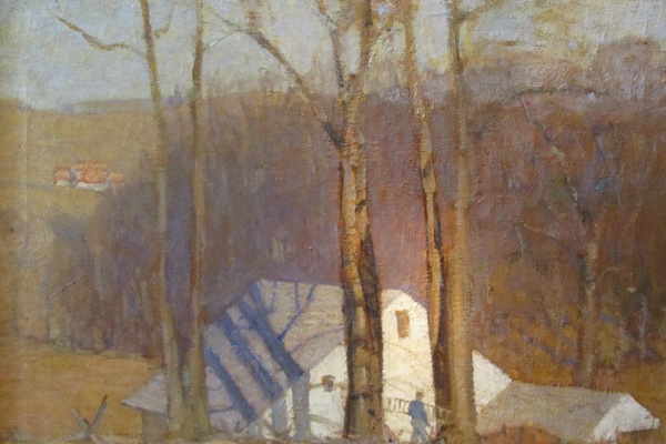 An untitled view of N.C. Wyeth's barn from around 1917.