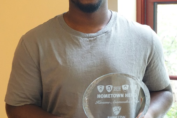 Kwame Asamoah-Addo is one of Jeanne D'Arc Credit Union's 2019 Hometown Heroes. He was nominated by his long-time friend, Phaleena Chheang, for the assistance he provides his mother and three other brothers.