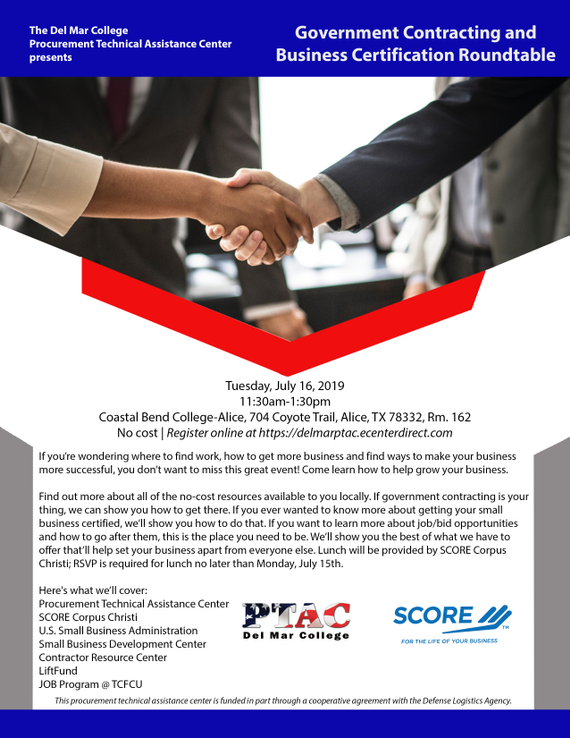 7.16.19 20government 20contracting 20and 20business 20certification 20roundtable 20flyer
