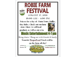 Robie Farm Festival - start Aug 17 2019 1000AM