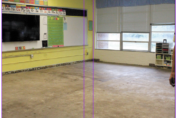 Just one of the four Cherryville Elementary classrooms that will have new tile laid down in preparation for the upcoming school year.  (photos by MEP/The Eagle)