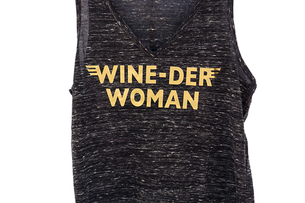 'WINE-DER WOMAN' T-shirt by BELLA