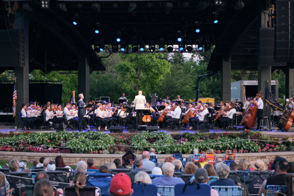 The Utah Symphony performs the Patriotic Celebration at Red Butte Garden. (Jordan Hafford/City Journals)