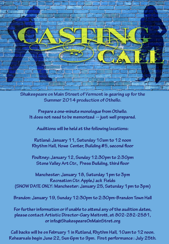 Casting blue poster
