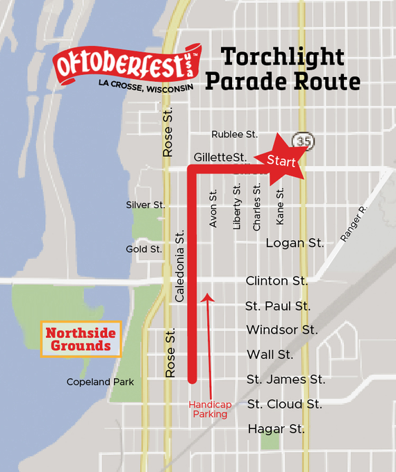 Torchlight parade route2