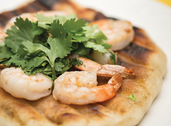Thai Shrimp Pizzettes Recipe