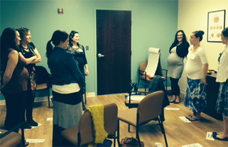 A recent CenteringPregnancy group session