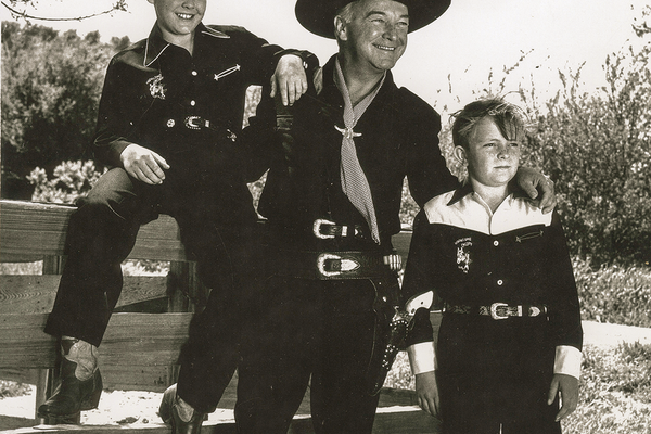 John Rohan (left) with Hopalong Cassidy.