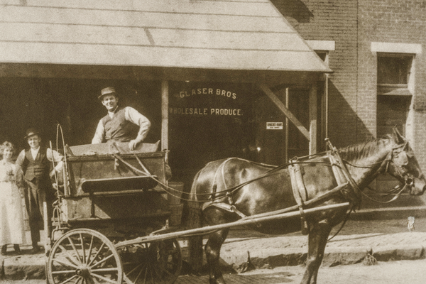 Maternal grandfather Leo Glaser started it all delivering groceries in a horse-drawn wagon.