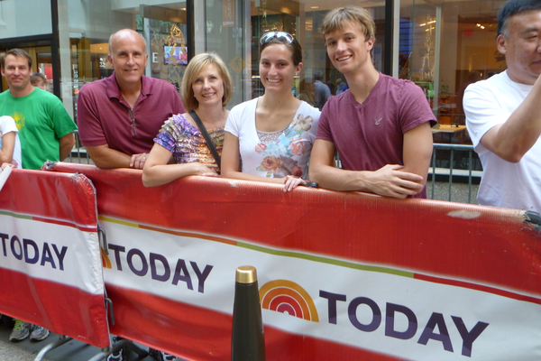 The Wilsons saw the Today show while in New York City.