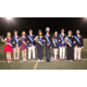 The homecoming court surround the king and queen at halftime From left are Mary Tuley Ben Fritz Emily Taylor Matthew Jordan Milady Lagunas Tegis Ranganath Sophie Becker Ryan Barish Erin Wahlen and Brenden Doherty Photo by Chris Barber
