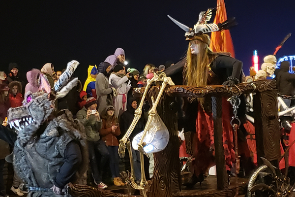 At Ireland's largest Halloween carnival, known as Awakening the Walls, visitors find themselves surrounded by the witches, evil spirits and souls of the dead who walk the earth on this day that traces its roots to the pre-Christian fire festival of Samhain.