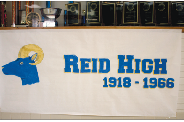 The Reid High poster erected last week at South Point.
