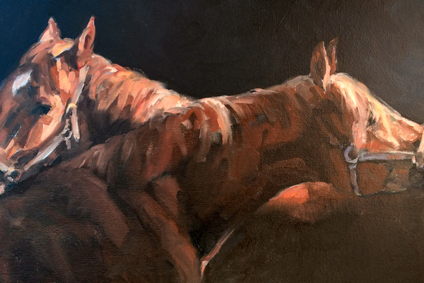 Sandra Severson's portraits of horses and other animals are spotlighted in the new exhibit.