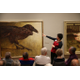 Justine Stehle points out Jamie Wyeths The Raven at the Brandywine River Museum of Art