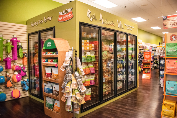 The walk-in freezer at Healthy Pet Products' North Hills location. Photo by Dena Koenig Photography
