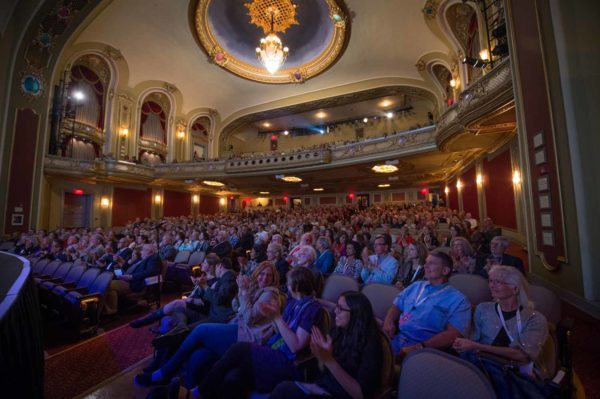 people in theater, Unbound Book Festival