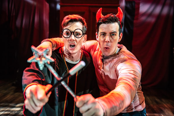 two actors onstage, The Potted Potter