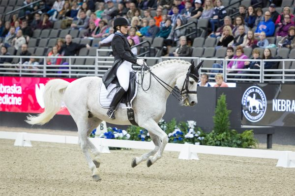 woman on horse, International Omaha dressage
