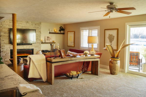 Sandy Matsons remodeled home basement