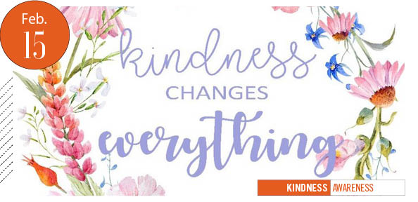 Kindness changes everything, flowery stock image
