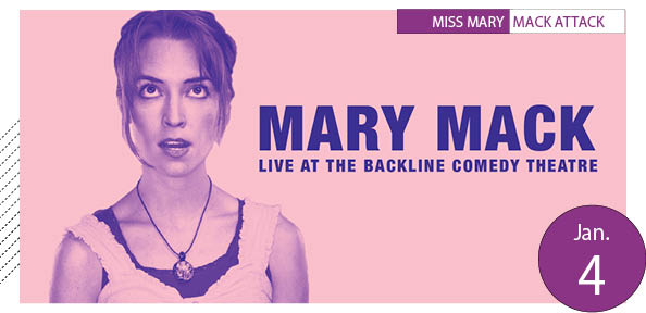 Mary Mack/Backline show poster
