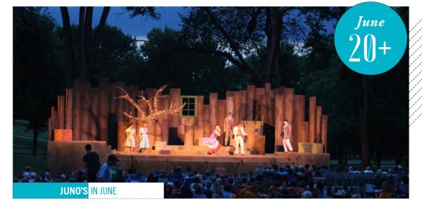 Shakespeare on the Green, evening