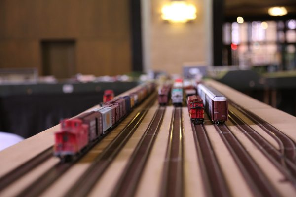 Toy train at Railroad Days