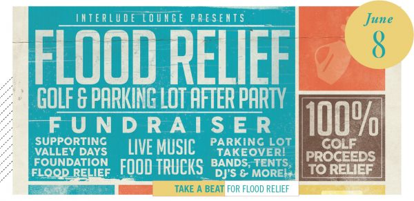 Interlude flood relief Fundraiser poster