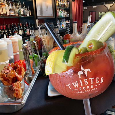 Twitsted Fork Bloody Mary bar