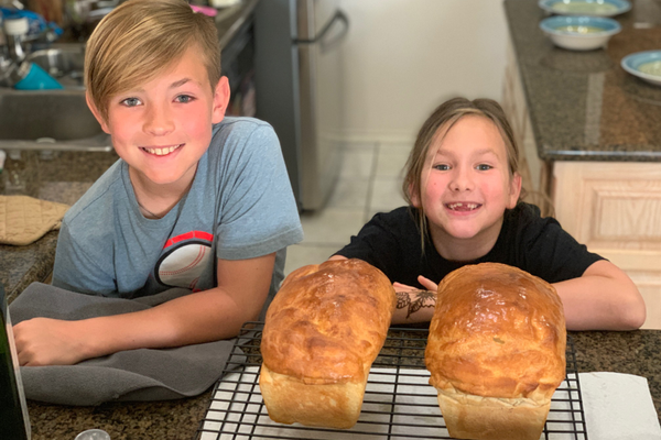 Ruthie and Noah baked their own bread.