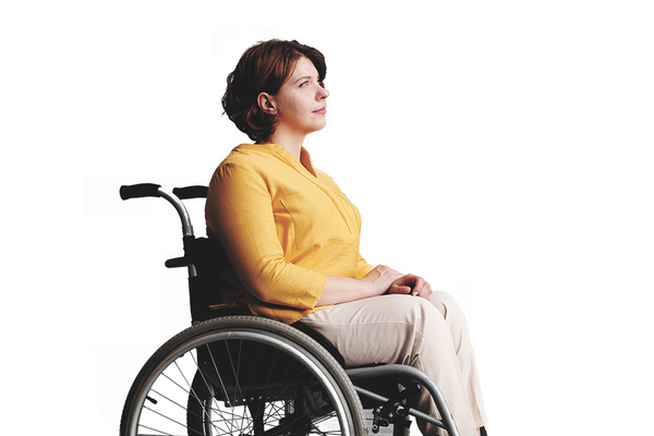 Multiple Sclerosis Patient in Wheelchair Practicing Mindfulness