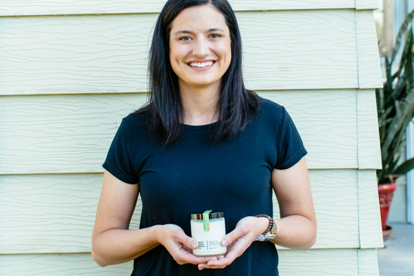 Happy Place Candle co-owner Danae McKenzie