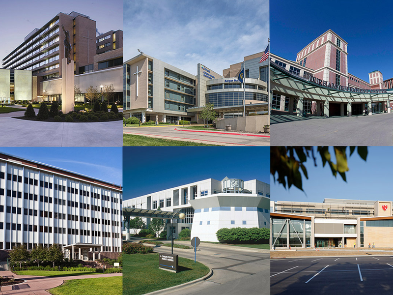 collage of Omaha medical buildings
