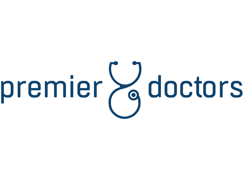 Premier Doctors new logo, white background