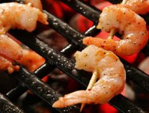 Medium grilled shrimp