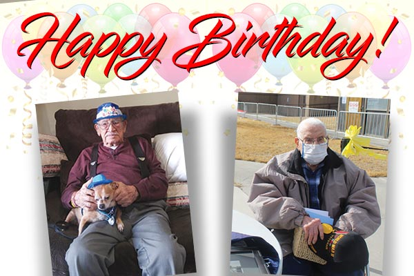 Happy Birthday to John F. Aragon Sr. and William Floryancic!