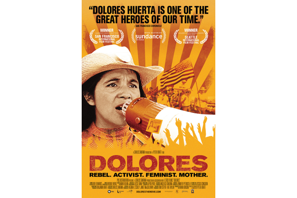 Earth Week Mini Festival poster promoting legendary Activist Dolores Huerta