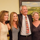 Jim & Joan Nielsen, at right, celebrated with their daughters after the announcement.