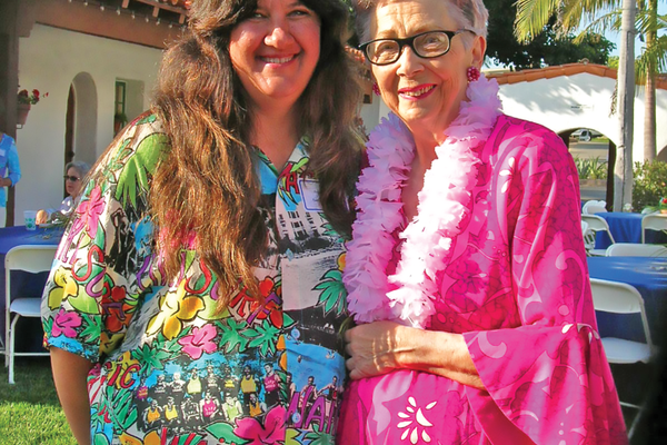 Peggy with the 'Mother of the Ocean Festival' the late Dorothy Fuller.