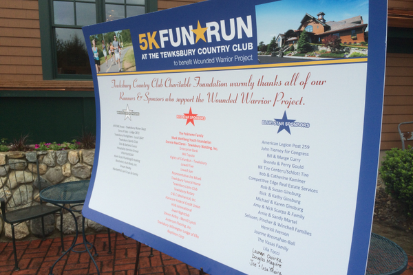 Dozens of local businesses sponsored the Tewksbury Memorial Day 5K Fun Run.