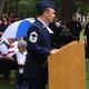 Senior Master Sgt. Stephen Voto speaks at the Tewksbury Memorial Day Ceremony.