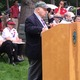 State Rep. Jim Miceli speaks at the Tewksbury Memorial Day Ceremony.