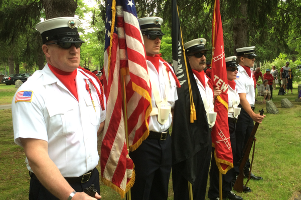 The Tewksbury Fire Department Honor Guard.