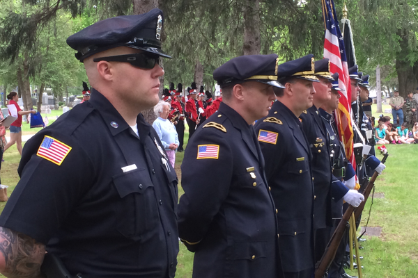 The Tewksbury Police Department Honor Guard.