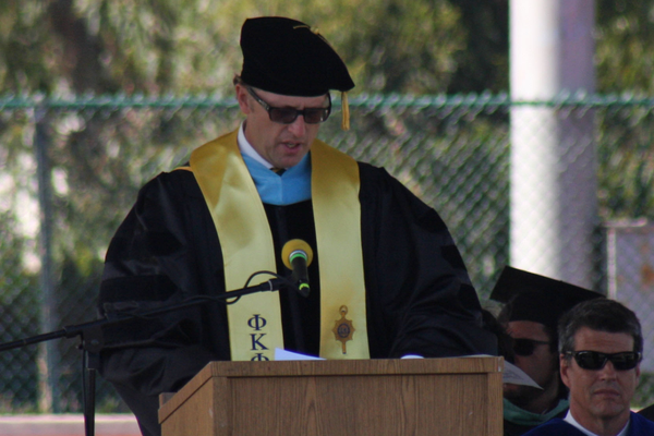 Principal Ben Dale starts the ceremony.