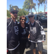 Mayor Amy Howorth poses with Jeff carter and Mike Richards before the parade.