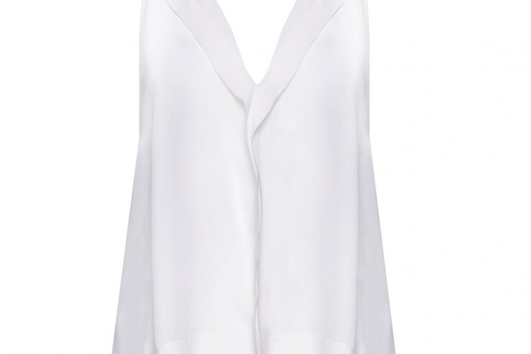 Sleeveless High-Low Hidden Placket Top - Alice + Olivia